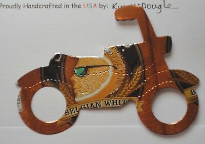 Motorcycle Handmade Summer/Christmas Ornament Recycled Shock Top Beer Can