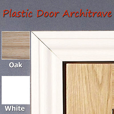 Plastic 55mm Door Achitraves 2.2m Length - No Painting - Light Weight - Durable
