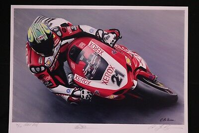 TROY BAYLISS Ducati limited edition world superbike motogp art by Lee Bivens f1