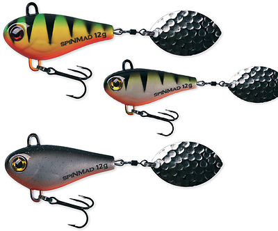 SpinMad JIGMASTER 12g - 4,5cm  ***gr. Farbauswahl***  Jigspinner Tailspinner