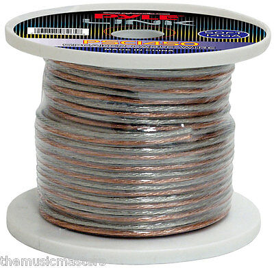 50' ft Roll 14 Gauge Clear CCA SPEAKER WIRE Cable Car Home Audio Stereo Sound