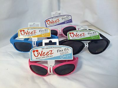 Uveez 100% Uva/uvb Protection Flex Fit Infant Baby Kids Sunglasses 0+ 2+ 4+ 7+
