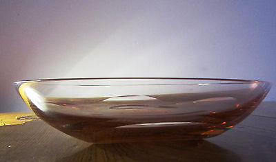 Moser Bowl Set 1 large 6 small - Rose color
