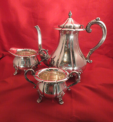 David-Andersen 830S/925S Sterling 3 Piece Coffee/Tea Set,  Elegant and Rare!!