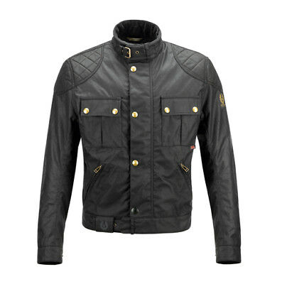 "Belstaff Brooklands ""Mojave"" 2.0 Blouson Wax Cotton Jacket - Black"