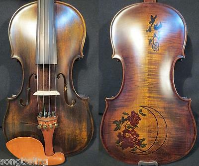 Strad style SONG Brand master inlaid perfect conjugal Bliss violin 4/4 #9821