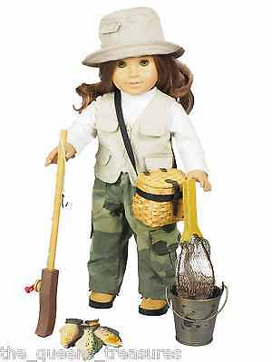 """18"""" Doll Clothing & Accessories FISHING CLOTHES & ACCESSORIES Fits American Girl"""