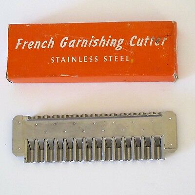 American 'French Style' Wavy-Cut Cutter Tool in Stainless Steel, Boxed, c.1970s