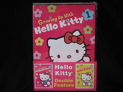 GROWING UP WITH HELLO KITTY VOLUME #1 AND #2-BRAND NEW/SEALED 2 DVD SET! COOL!
