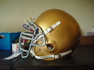 Schutt Air Adult Game Used Full Sized Helmet Large Notre Dame Fighting Irish ?