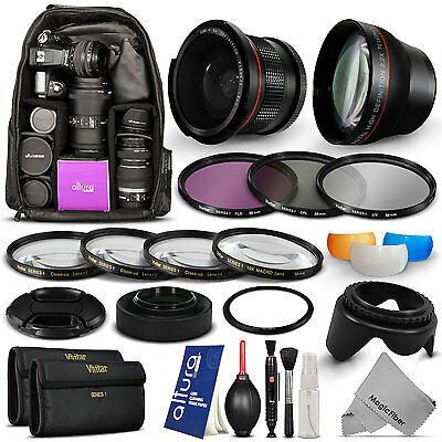 Lens Filter Kit & Accessories + Large Backpack for Canon PowerShot SX50 HS