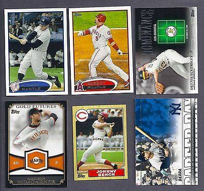 2012 2013 TOPPS LOT THE GREATS 1987 1972  MINIS & MORE INSERTS COMPLETE 25 PICKS