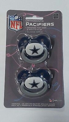 Dallas Cowboys Baby Infant Pacifiers NFL NEW - 2 Pack   GREAT SHOWER GIFT!