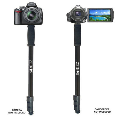 Zeikos ZE-MP72 72 Inch Black Photo Video Monopod With Deluxe Soft Case F Camera