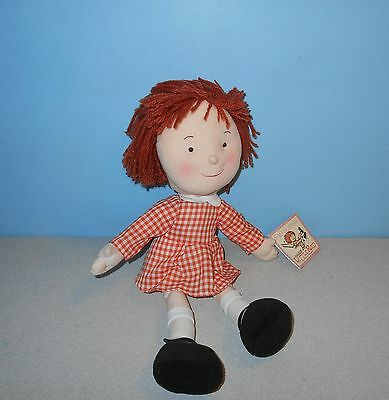 "New FAO Schwarz Little Red Chances For Children Doll 16"" Stuffed Plush Yarn Hair"