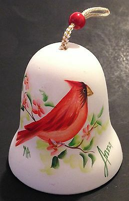 SANDSTONE CREATIONS ARIZONA HAND PAINTED POTTERY CARDINAL BELL