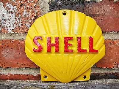 Shell Sign Shell logo Cast Sign PAINTED Oil Petrol Vintage Garage sign VAC111