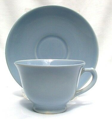 TAYLOR SMITH & TAYLOR LURAY PASTELS WINDSOR BLUE CUPS & SAUCERS TWO