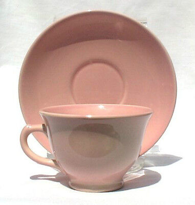 TAYLOR SMITH & TAYLOR LURAY PASTELS SHARON PINK CUPS & SAUCERS TWO