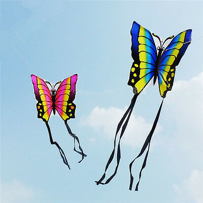 2x Latest Outdoor Couples Family Style Kites Beautiful Butterfly Kite Blue+Red