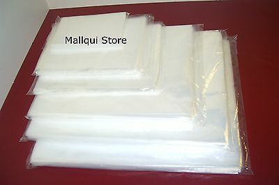 25 CLEAR 9 x 12 POLY BAGS 2 MIL PLASTIC FLAT OPEN TOP
