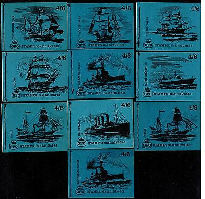 Serie 4/6 Ships  10 Different  Stitched Booklet