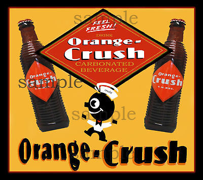 ORANGE CRUSH DECAL STICKER NORTHWESTERN GUMBALL