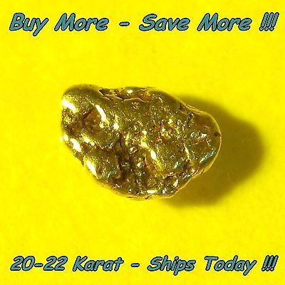 Natural Alaskan Placer Gold Nugget Flake Fines .102 Gram From Alaska 20k-22k Raw