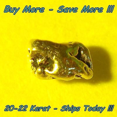 Natural Alaskan Placer Gold Nugget Flake Fines .121 Gram From Alaska 20k-22k Raw