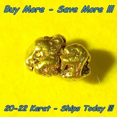 Alaska Gold Nugget Placer Picker Flake Fines .132 Gram From Alaskan Natural Raw