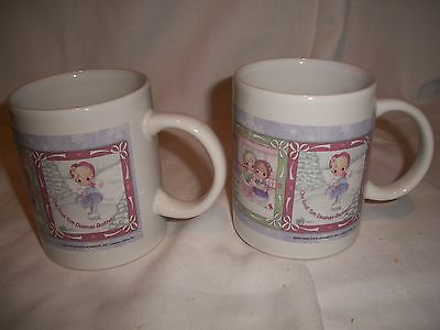 Precious Moments Coffee Mugs or Cups - 2001 - Set of 2 - Mint Condition!