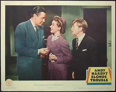 Andy Hardy's Blonde Trouble Orig 1944 Lobby Card #2 Mickey Rooney, Fay Holden