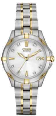 Citizen Eco-Drive Two-Tone Diamond Women Watch - EW1934-59A