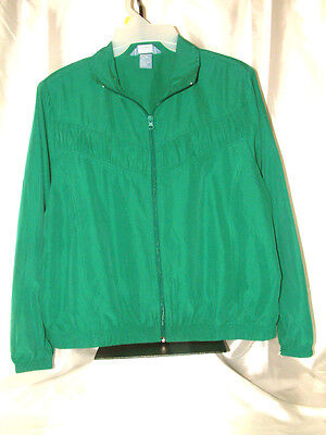 """GORGEOUS """"NAPA VALLEY SPORT"""" JACKET, PRETTY EMERALD GREEN COLOR , FRONT ACCENT"""
