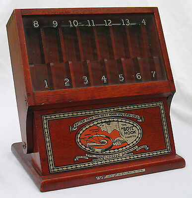 RARE - 1919 BOYE NEEDLE COMPANY STORE HOOK COUNTER DISPLAY CASE -COMPLETE-EX-NR!