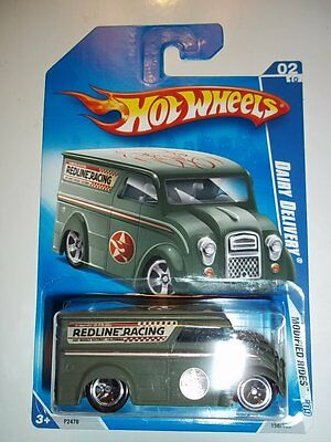 HOT WHEELS 2009 MODIFIED RIDES DAIRY DELIVERY #158 GREEN