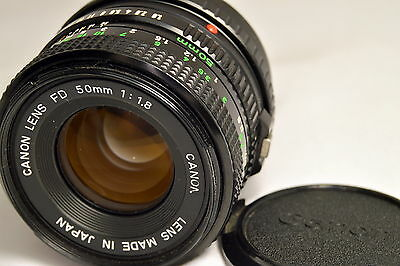 Canon FD 50mm f1.8 Manual Focus Lens adapted to Sony E mount cameras ILCE NEX 5T