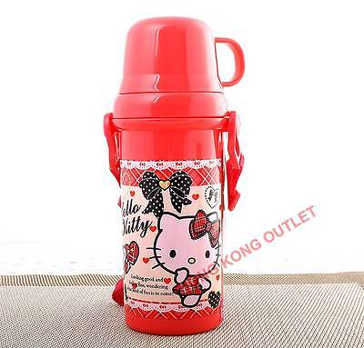 Hello Kitty Water Bottle with Cup 480ml Japan Sanrio B50a
