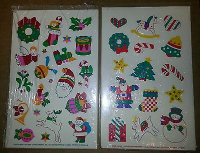 1990's Vintage Current Holiday/Christmas Stickers Lot of 2 packs, New in package