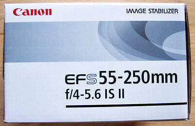 Canon EF-S 55-250mm f/4-5.6 IS II EMPTY BOX ONLY