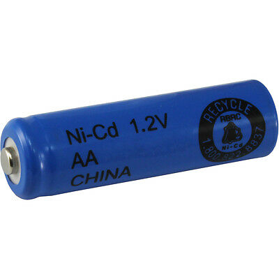 4 AA NiCd Nicad 600 mAh 1.2 V Rechargeable Batteries for Solar Lights, etc