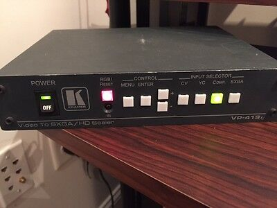 KRAMER VP-419XL DIGITAL SCALER VIDEO TO COMPUTER GRAPHIC VIDEO HDTV PROSCALER
