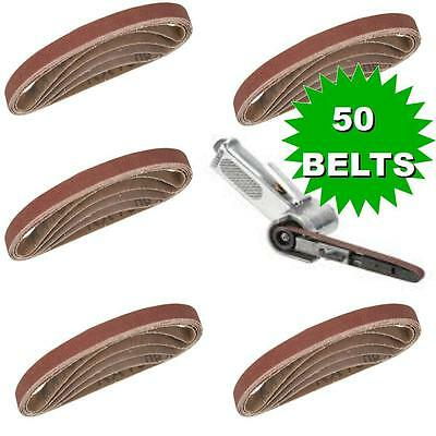 50 X Sanding Belts To Fit air powered Powerfile 10 x 330 mm 100% Fit Rate