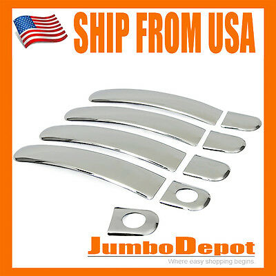 US for 4DR 1999-2007 VW Golf Jetta Bora Chrome Door Handle Covers Trims Keyhole