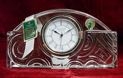NEW WATERFORD CRYSTAL NEWGRANGE LARGE MANTLE DESK CLOCK IRELAND CHRISTMAS GIFT