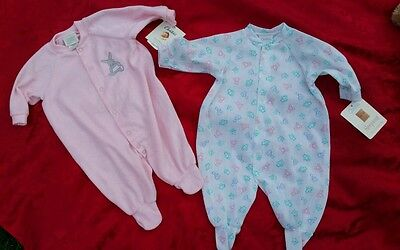 Easter Carter's Baby Girl One Piece Set of 2 Sleepwear size 0-3 Months