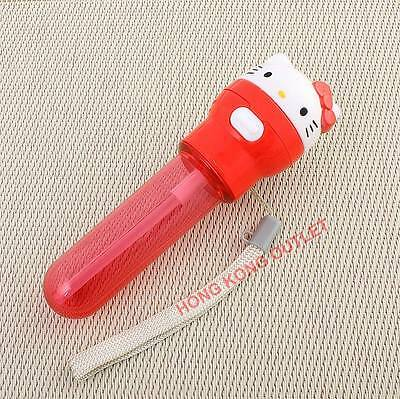 Hello Kitty Water Bottle Pop Up  Cap with Silicone Straw  Japan Sanrio   H38g