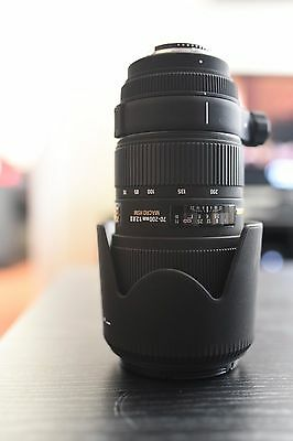 Sigma EX DG APO HSM Macro II IF 70-200 mm F/2.8 Lens For Nikon (fits FX and DX)