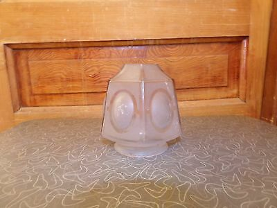 Vintage Art Deco Glass Lamp Shade Frosted to Clear