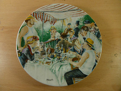Limoges Porcelain.Luncheon At The Boating Party By Renoir.6 Inch Plate No. 7041